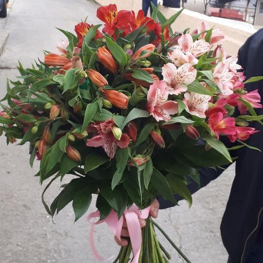 Букет из 31 разноцветной альстромерии: букеты цветов на заказ Flowwow