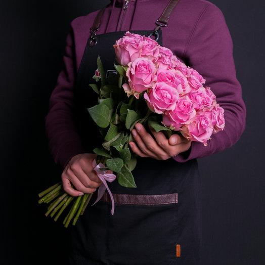 Букет из 25 розовых роз 60 см: букеты цветов на заказ Flowwow