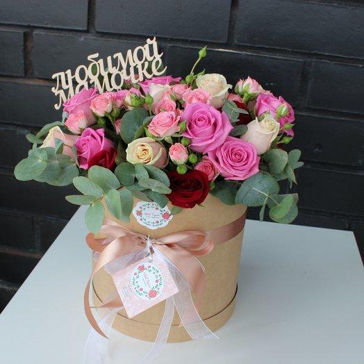 Шляпная коробку с цветами: букеты цветов на заказ Flowwow