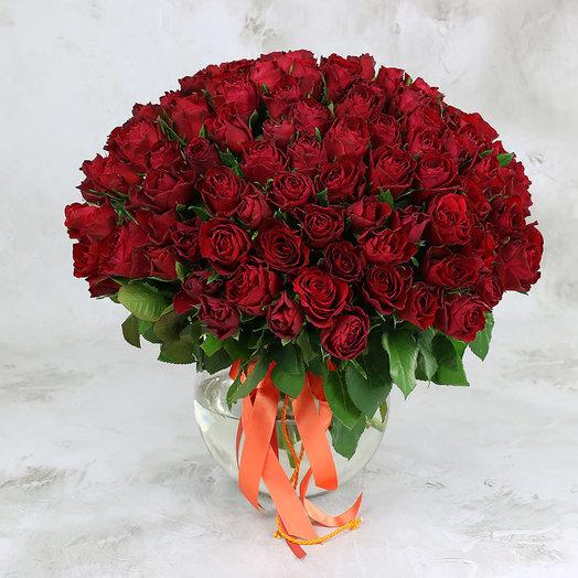 Букет из 101 красной розы 40см