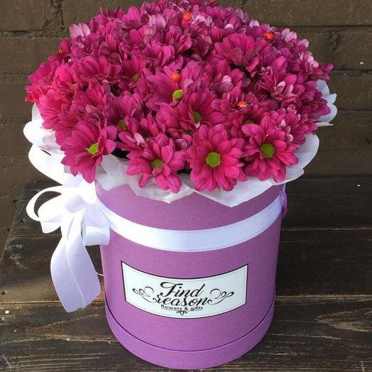 "Шляпная коробка ""Розовое настроение"": букеты цветов на заказ Flowwow"