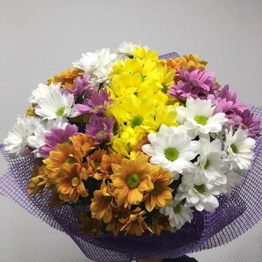 Ассорти из хризантем: букеты цветов на заказ Flowwow