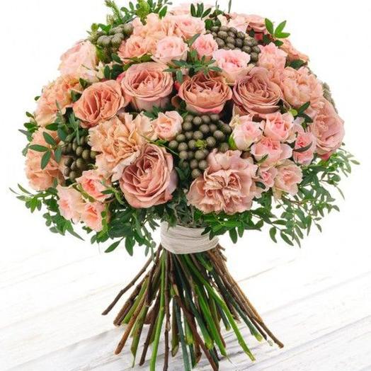 """Букет """"Кофе-кино"""": букеты цветов на заказ Flowwow"""