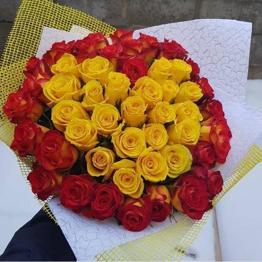 Пылкое сердце💛: букеты цветов на заказ Flowwow
