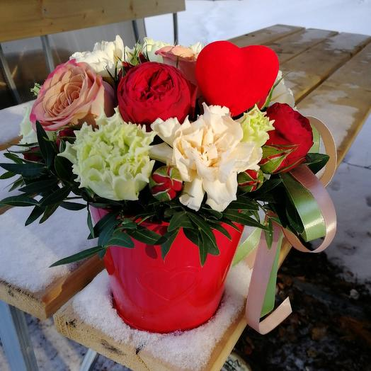 Алое сердце: букеты цветов на заказ Flowwow