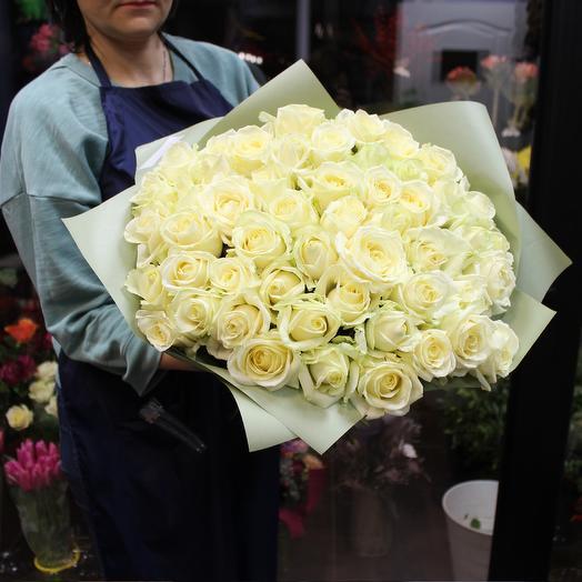 "Букет белых роз ""Облака"""