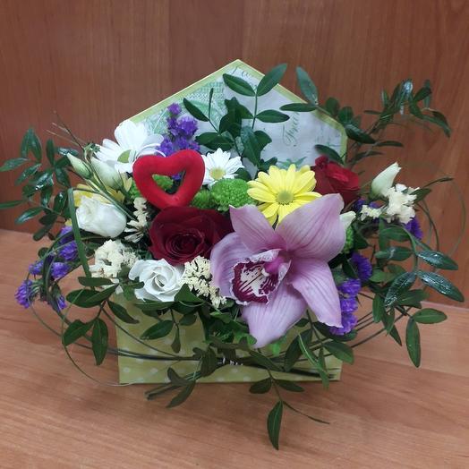 Письмо из живых цветов в конверте: букеты цветов на заказ Flowwow