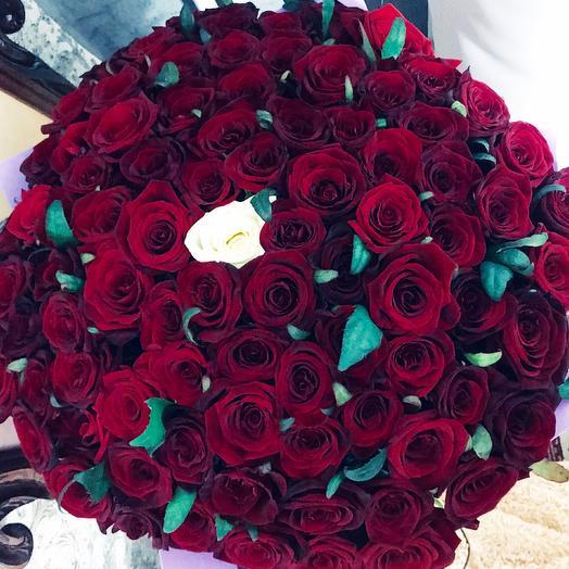 101 роза ️: букеты цветов на заказ Flowwow