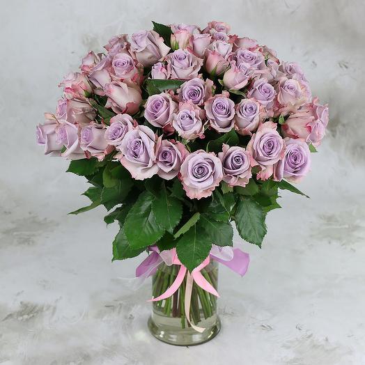 Букет из 51 розы Оушен Сонг: букеты цветов на заказ Flowwow