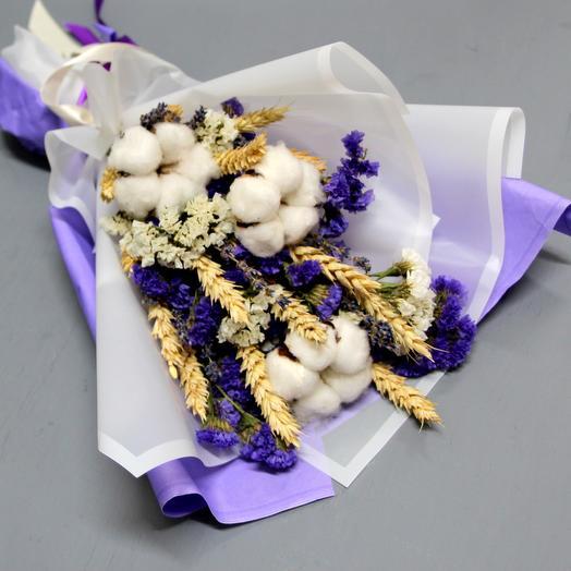 Нежный хлопок и статица: букеты цветов на заказ Flowwow