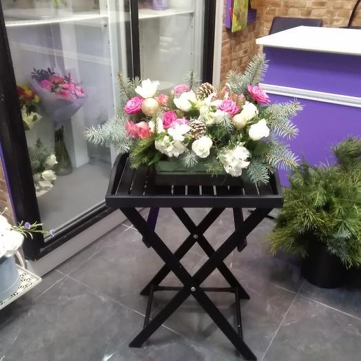 Новогодний розалий: букеты цветов на заказ Flowwow