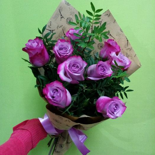 Букет пурпурных роз: букеты цветов на заказ Flowwow