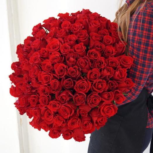 Голландские розы 101 шт: букеты цветов на заказ Flowwow