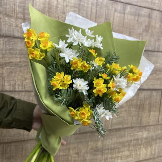 Ароматные нарциссы для солнечного настроения: букеты цветов на заказ Flowwow