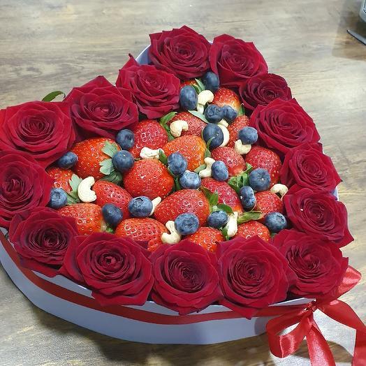 Сердце Вкусняшка: букеты цветов на заказ Flowwow