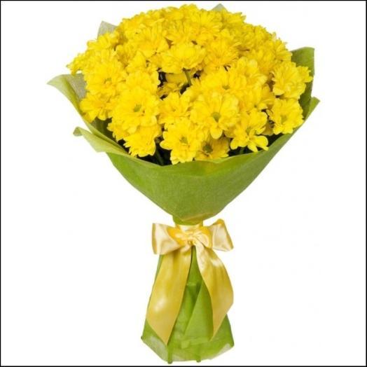 Букет из жёлтых хризантем