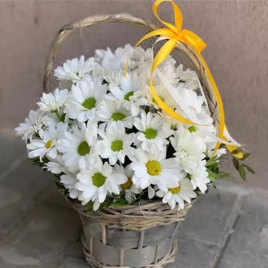 "Корзинка  ""ромашка"": букеты цветов на заказ Flowwow"