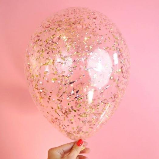 Прозрачный шар с конфетти
