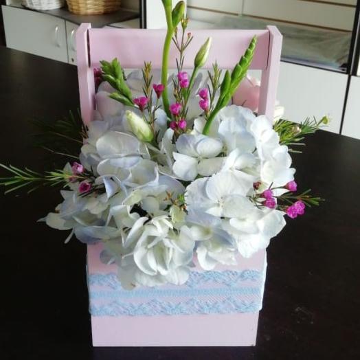 Коробка нежность: букеты цветов на заказ Flowwow