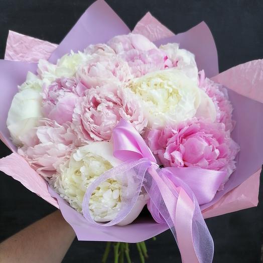 Пионовый мусс: букеты цветов на заказ Flowwow