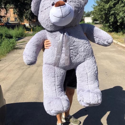 Плюшевий ведмедик 160 см сірий