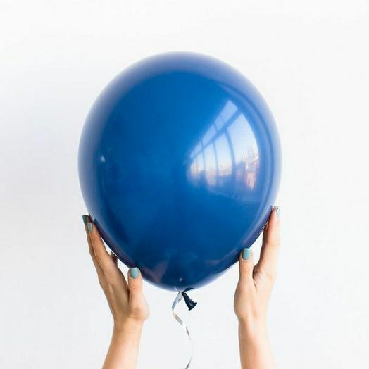 """Воздушный шар латексный""""тёмно-синий"""""""