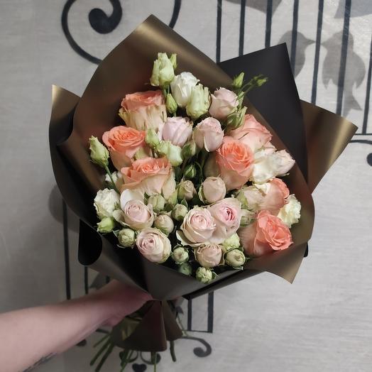 """Букет с розами """"Эльдорадо"""""""