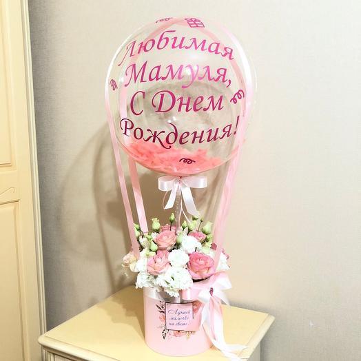 Шар с цветами маме
