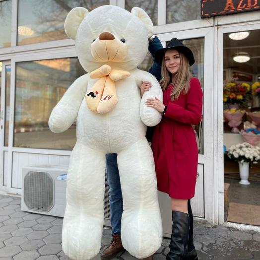 Белый мишка 220 см