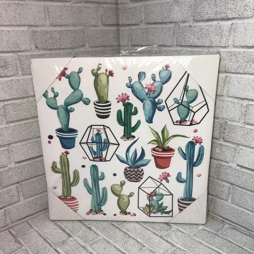 Картина кактусы
