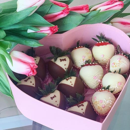 Клубника в шоколаде «С днем свадьбы»