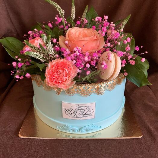 торт Цветочная коробка