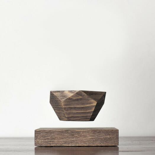 Левитационный горшок LePlant Wood венге (бонсай)