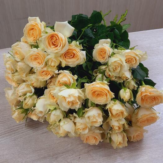 Букет из 9 шт пионовидных кустовых роз