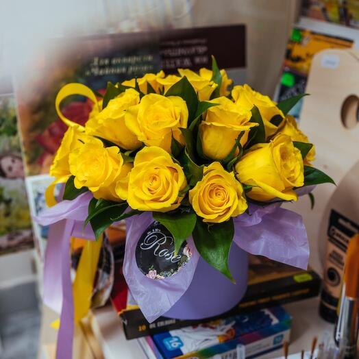 Композиция из Кенийских желтых роз