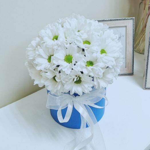 Цветы в коробке мини