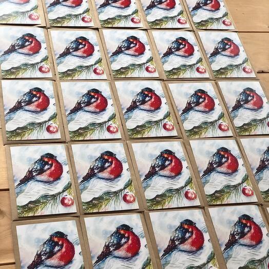 Набор открыток с конвертами. 25 штук. Новый год
