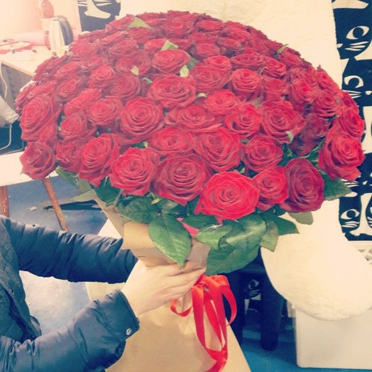 51 голландская роза: букеты цветов на заказ Flowwow