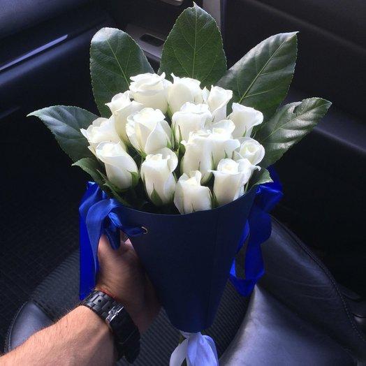 Композиция Белая роза в конверте: букеты цветов на заказ Flowwow