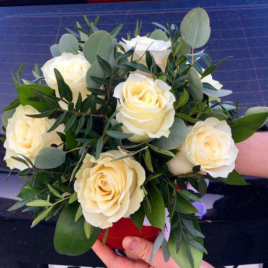 """Коробчка с розами """"White"""""""