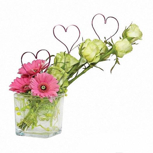 Букет «Влюбленное сердце»: букеты цветов на заказ Flowwow