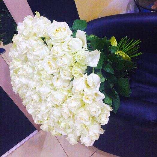 Букет 75 роз Аваланш 70/80 см: букеты цветов на заказ Flowwow
