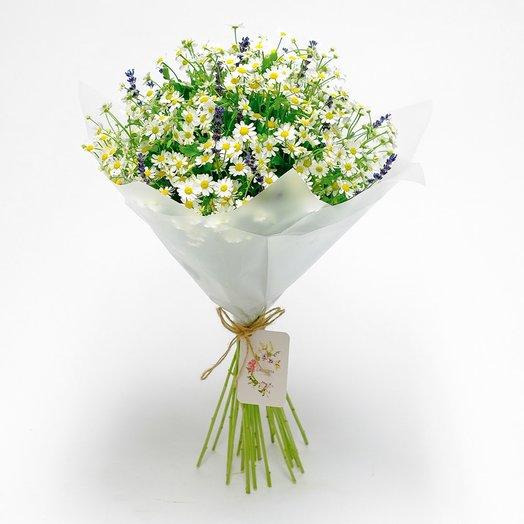 Ромашки с лавандой: букеты цветов на заказ Flowwow