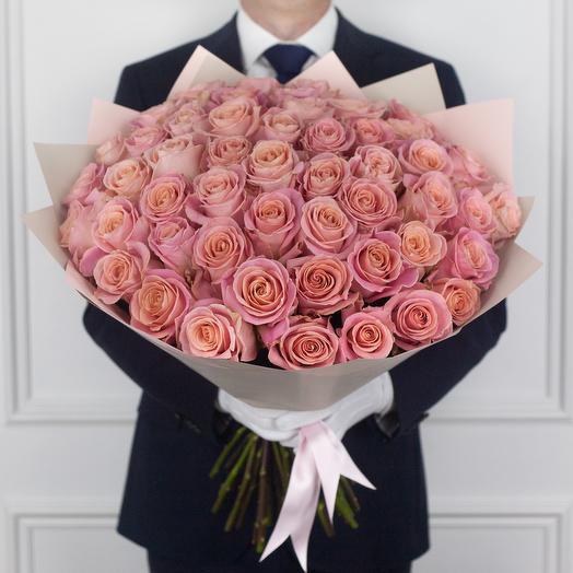 Букет из 49 эквадорских роз: букеты цветов на заказ Flowwow