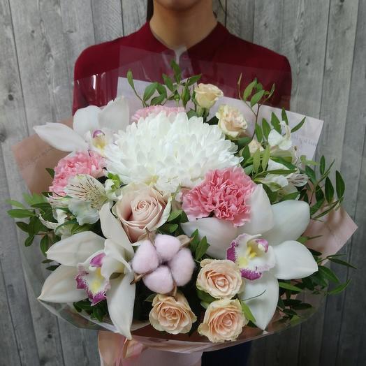Жемчужное ожерелье - Сборный букет: букеты цветов на заказ Flowwow