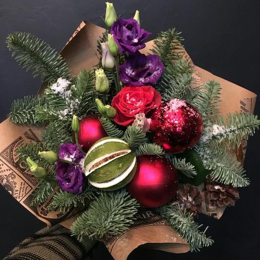 Новогодний букет 👌: букеты цветов на заказ Flowwow