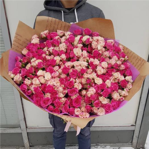 Букет из кустовых роз. 79 веток кустовых роз: букеты цветов на заказ Flowwow