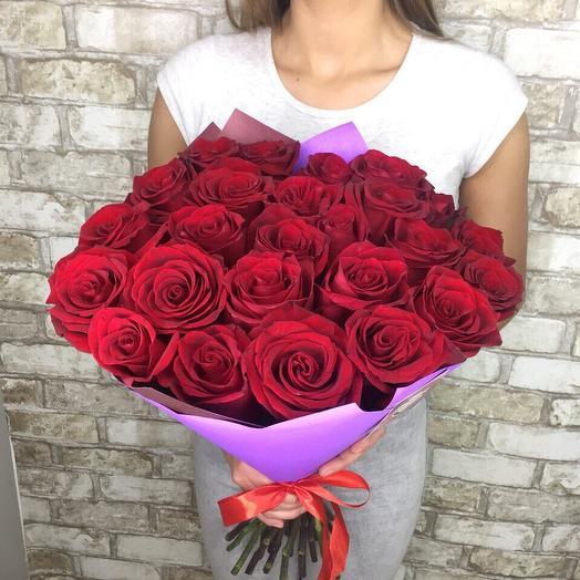 """Букет из 31 розы сорта """"Фридом"""": букеты цветов на заказ Flowwow"""
