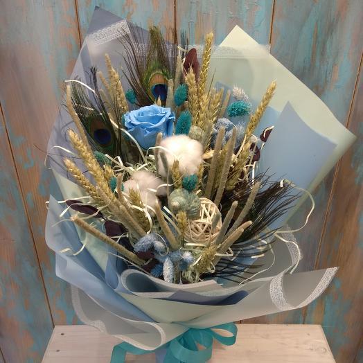 Морской Букет из сухоцветов: букеты цветов на заказ Flowwow