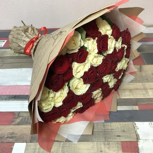 Красно-Белый: букеты цветов на заказ Flowwow